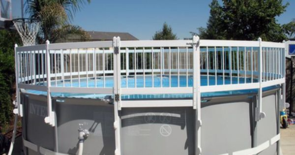 Above Ground Pool Fence In Ground Pools Pool Fence Above Ground Pool Fence