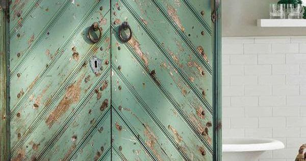 Old Wooden Door Nostalgic Style Digital Printing Pattern Bathroom Curtain Mildew Waterproof Shower Curtain Old Wooden Doors