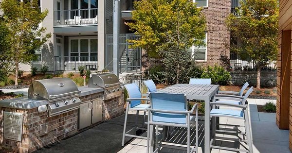 Grill All Your Want When You Want At One Of Our Grilling Stations Beside The Pool Courtyard Apartments Piedmont Apartment Floor Plans