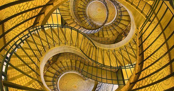 Best Amazing Spiral Stairs Swirl Yellow Surreal 400 x 300