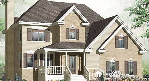 Plan de maison unifamiliale w3461 v1 celle ci est ma for Plan de ma maison