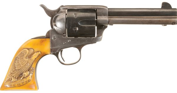 Colt Single Action 45LC : First Generation Colt Single Action Revolver with Carved Eagle Grips ...