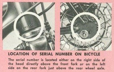 Schwinn Lightweight Data Book Serial Numbers Schwinn Bike Schwinn Bike