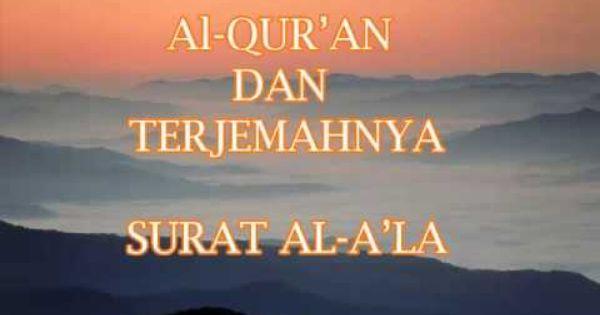 Bacaan Surat Al A La Arab Latin Dan Terjemahannya Muslim Fiqih Lagu Quran Membaca