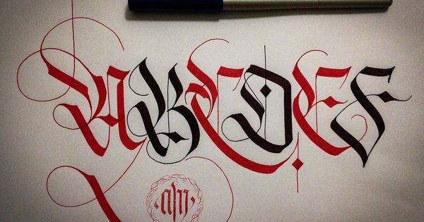 Calligrafia Frakturalphabet Normal Decorative Letters