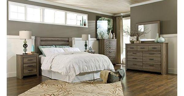 warm gray zelen bedroom suite ashley furniture bedroom pinterest more dresser and. Black Bedroom Furniture Sets. Home Design Ideas