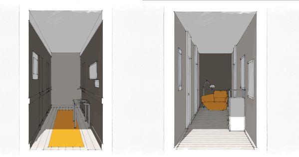 Idee decoration couloir etroit recherche google for Recherche idee deco