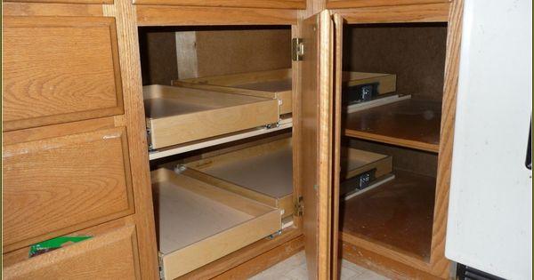 Blind corner cabi solutions diy best home design ideas for Blind corner kitchen cabinet ideas