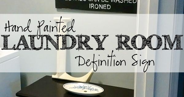 Hand Painted Laundry Room Definition Sign Laundry Rooms