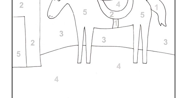 Horse Printable Color by Number Page | Color by numbers ...