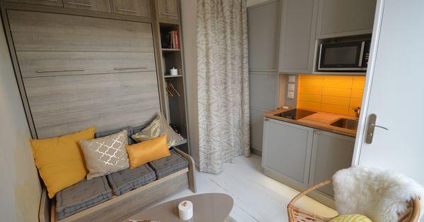 Une chambre de bonne parisienne r nov e et optimis e par for Acheter une chambre de bonne a paris