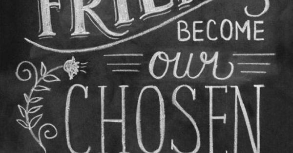 SO true. | Friendship Print - Friendship Gift - Friend Quote 11x14 Print - Hand Lettered Print - Gift for Best Friend - Chalkboard Art - Chalk Art. $29.00, via Etsy.