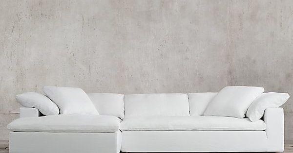 The Petite Cloud Track Arm Left Arm Sofa Chaise Sectional Sofa
