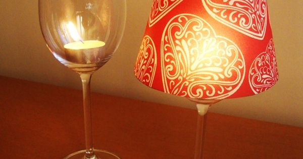 cheap wine glass + tea light candle + paper cup with the