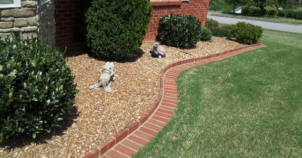 Brick edging and rock flower bed curb appeal pinterest for Brick edging for your flower beds