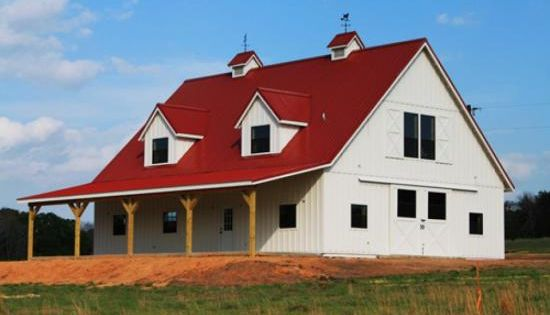 Barn living pole quarter with metal buildings pole for Barn pros nationwide