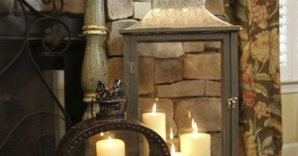 20 romantic fireplace candle ideas home design and