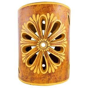 Ceramica Cruz Blanca Collection Clay Wall Sconce Ccbs009