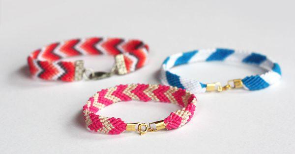 DIY: friendship bracelets clasps