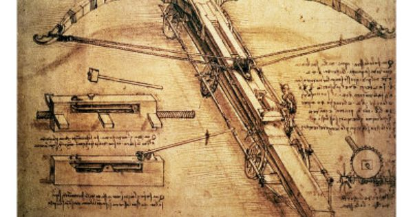 Catapult, Leonardo da vinci and Crossbow on Pinterest