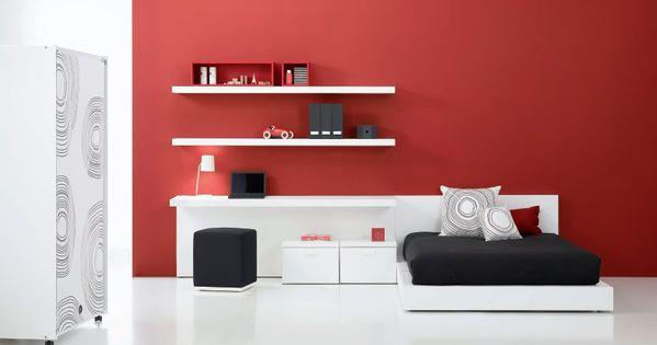 Dormitorios elegantes dormitorios juveniles minimalistas en rojo recamaras minimalistas home - Dormitorios juveniles minimalistas ...