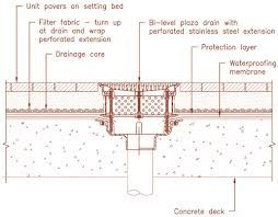 Roof Deck Linear Floor Drain Section Detail Google Search Floor Drains Roof Drain Roof Deck