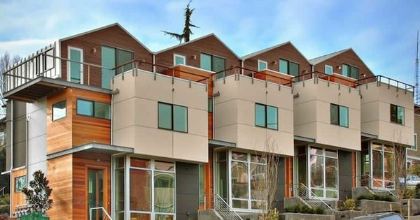 Seattle townhome architecture 4 plex duplex fourplex for 4 plex townhouse plans