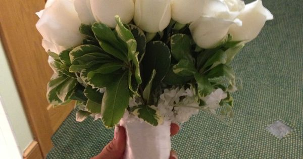 My Bouquet I made- Sams club Flowers- opened up beautifully on wedding day!