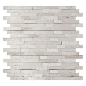 Inoxia Speedtiles Himalayan White 11 77 In X 11 57 In X 8 Mm Stone Self Adhesive Wall Mosaic Tile 11 4 Sq Ft Case Usis314 2 Boite The Home Depot Home Depot Backsplash Tile Backsplash Neutral Backsplash