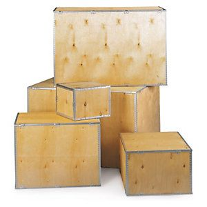 Foldable Plywood Export Boxes 280x185x180mm Plywood Plywood Boxes Pallet Boxes