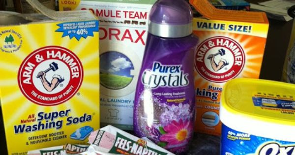 Homemade Dry Laundry Detergent With Oxiclean