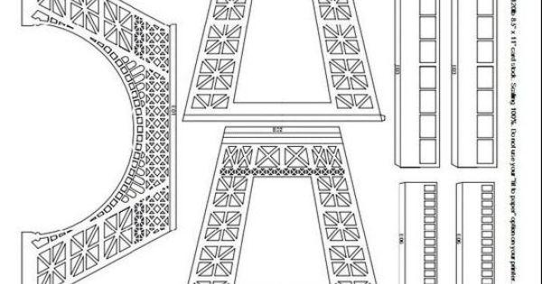 Эйфелева башня трафареты ,Eiffel tower templates - Мастер ...