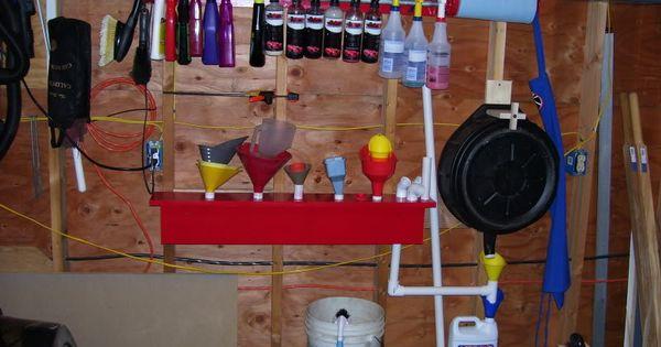 Drain Pan And Funnel Storage Garage Storage Ideas