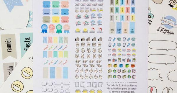 Stickers para imprimir para decorar mi agenda buscar con - Pegatinas para la pared ...