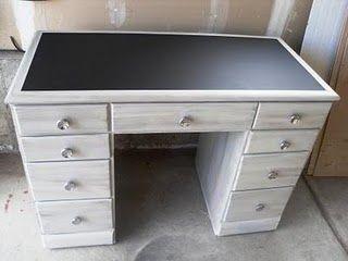 Red Hen Home Make A Note Desk Chalkboard Desk Refurbished Desk Refinished Desk