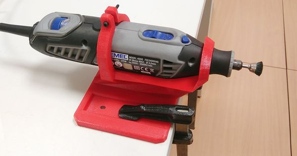 Support to fix a dremel 4000 to your table and use it free - Soporte para dremel ...