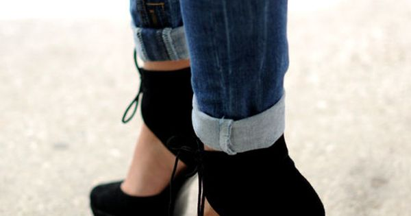 skinny jeans and high heels my style