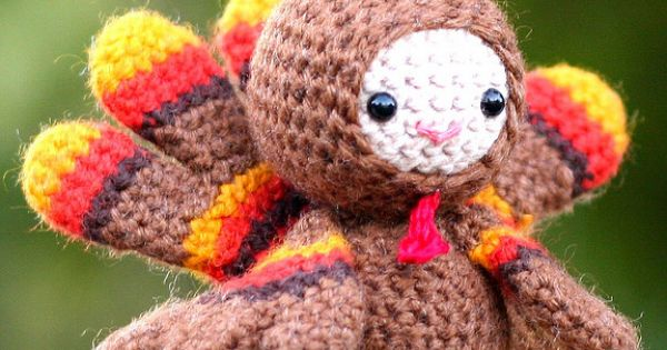 #Thanksgiving turkey cute DIY crafts amigurumi crochet kawaii dolls toys softie handmade