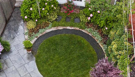 A little patch of lawn goes a long way when designed to