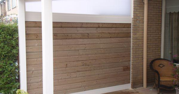 Veranda terras overkapping met een zijwand van ge mpregneerd hout tuin sfeer buiten leven - Buiten terras model ...