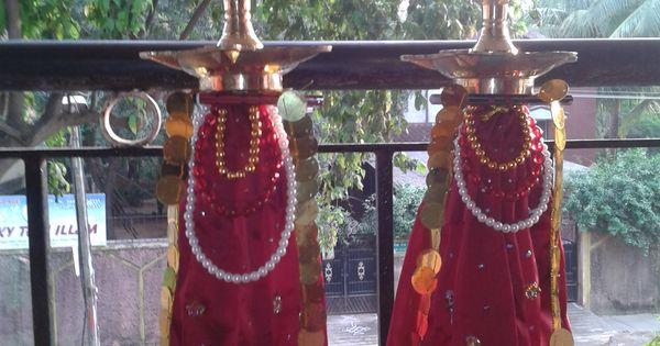 Kuthu vilakku decoration aarti plates pinterest for Aarti dish decoration