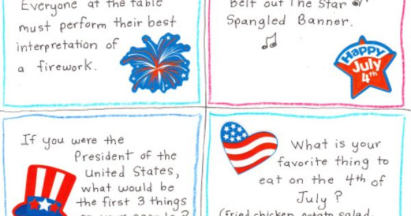 4th of july trivia cards