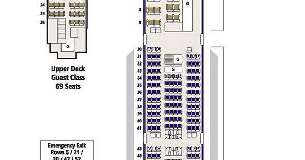 Saudi Arabian Airlines Boeing 747 300 Aircraft Seating