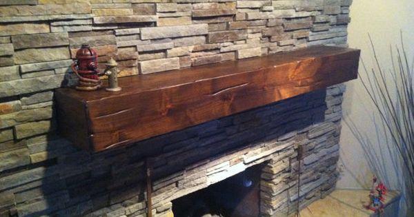Knotty Alder Wood Fireplace Shelf Mantel Fireplace