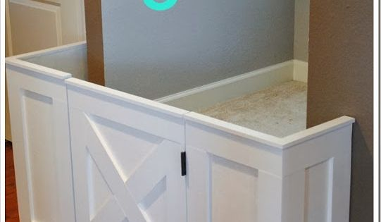 Custom DIY baby gate- this would work going to the basement Tara!