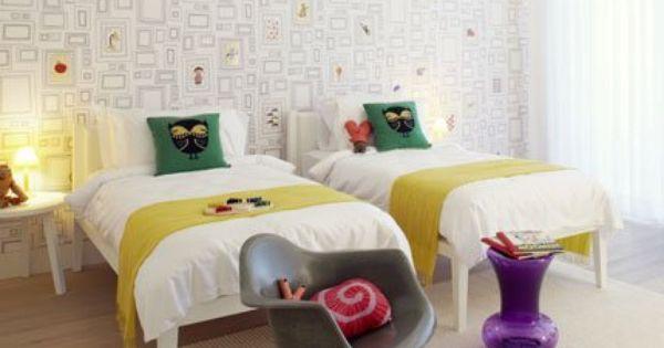 Chambre Coloree Cote Enfants Jaune Rouge Violet Vert La