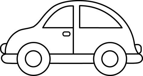 Toy Car Clip Art Black And White Easy Coloring Pages Car Drawing Kids Cars Coloring Pages