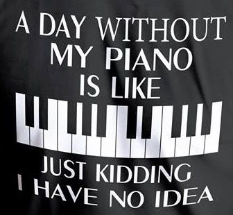 A Day Without Piano I Don T Think So Tomfaucherpiano Com Tomfaucherpiano Pianolessons Piano Memes Piano Funny Piano Music