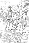 Parable Of The Wheat And Weeds Coloring Page Coloring Pages