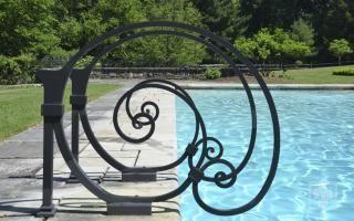 Aristotle Design Group Landscape Design Iron Swimming Pool